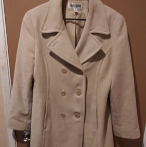 Marvin Richards Tan Pea Coat Jacket Blazer Medium